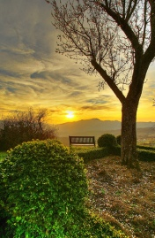 """HDR - the empty bench"" by emmedibi @ Flickr"